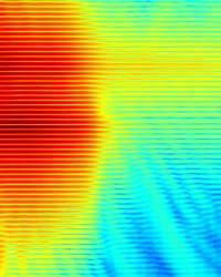 Simulated electric field intensity distribution in a leaky VCSEL