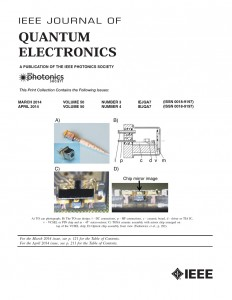 IEEE JQE front page with VI Systems TOSA module